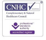 Registered with the Complementary and Natural Healthcare Council (CNHC). The independent UK regulator for complementary healthcare practitioners.